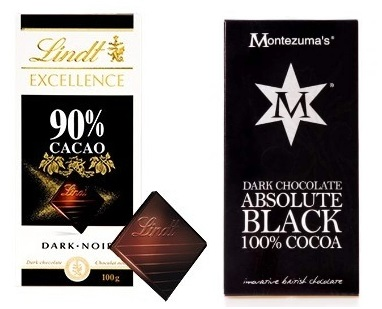 Very dark chocolate 90-100% cocoa
